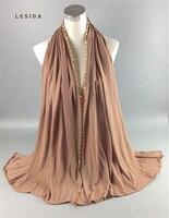 LESIDA Women 17 Colors Hijab Hot Drilling Scarf Shawl Muslim Islamic Head Wrap Solid Color