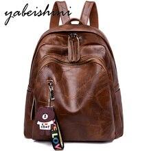 купить Retro Large Backpack Women PU Leather Rucksack Women's Knapsack Travel Backpacks Shoulder School Bags Mochila School Back Pack по цене 1151.52 рублей