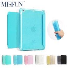 For Ipad Air 2 / Air 1 TPU Soft Smart Case PU Leather Cover Fold Stand Glitter Silicone Case For iPad Mini 1 2 3 Auto Sleep/Wake