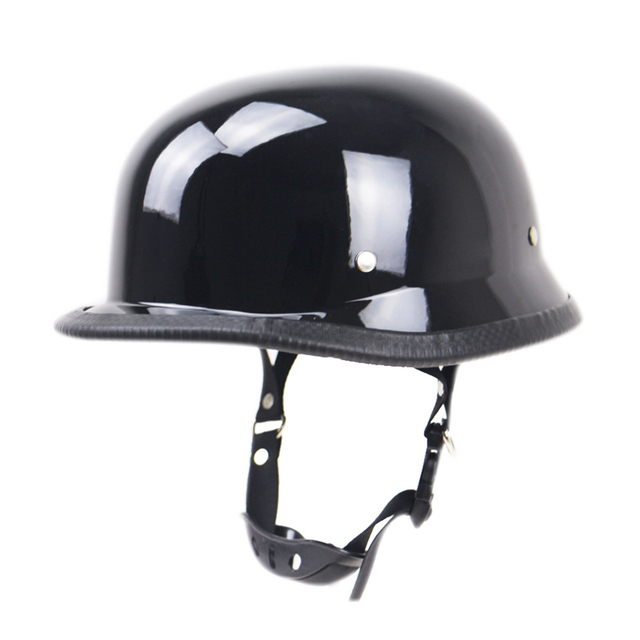 Motorcycle Carbon Fiber Black German Half Face Helmet Chopper Cruiser Biker M/L/XL scooter helmets