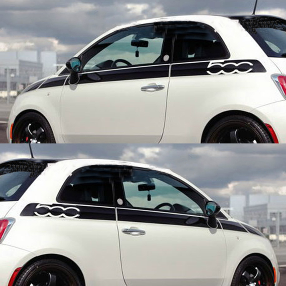 lowest price For Fiat 500 Creative Car Whole Body Sticker Decoration Car Protection Stickers Car-Styling Auto Accessories 8Pcs Per Set