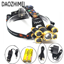 16000 Lumen Zoom Headlamp XML T6+4Q5 Head Lamp Powerful Led Headlight Head Torch 18650 Rechargeable Fishing Hunting Light