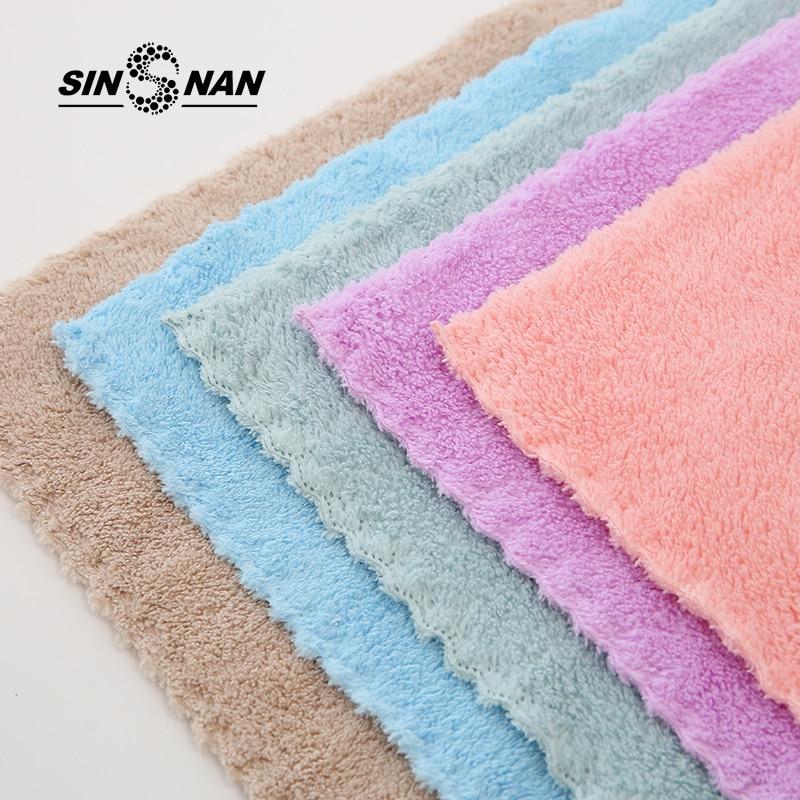 Microfiber Face Soft Towel Super Absorbent Bathroom Towels for Adults 30x30cm