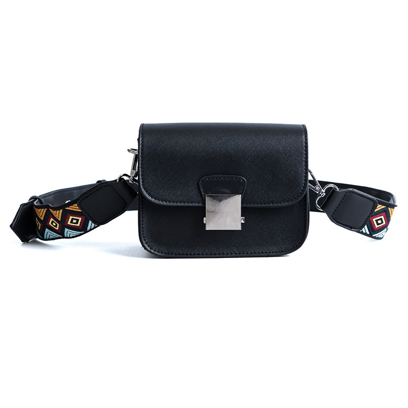 Yesello Fashion Wide Strap Shoulder Bag Flower Flap Small Bag Casual Women Bags Shoulder Messenger Bags