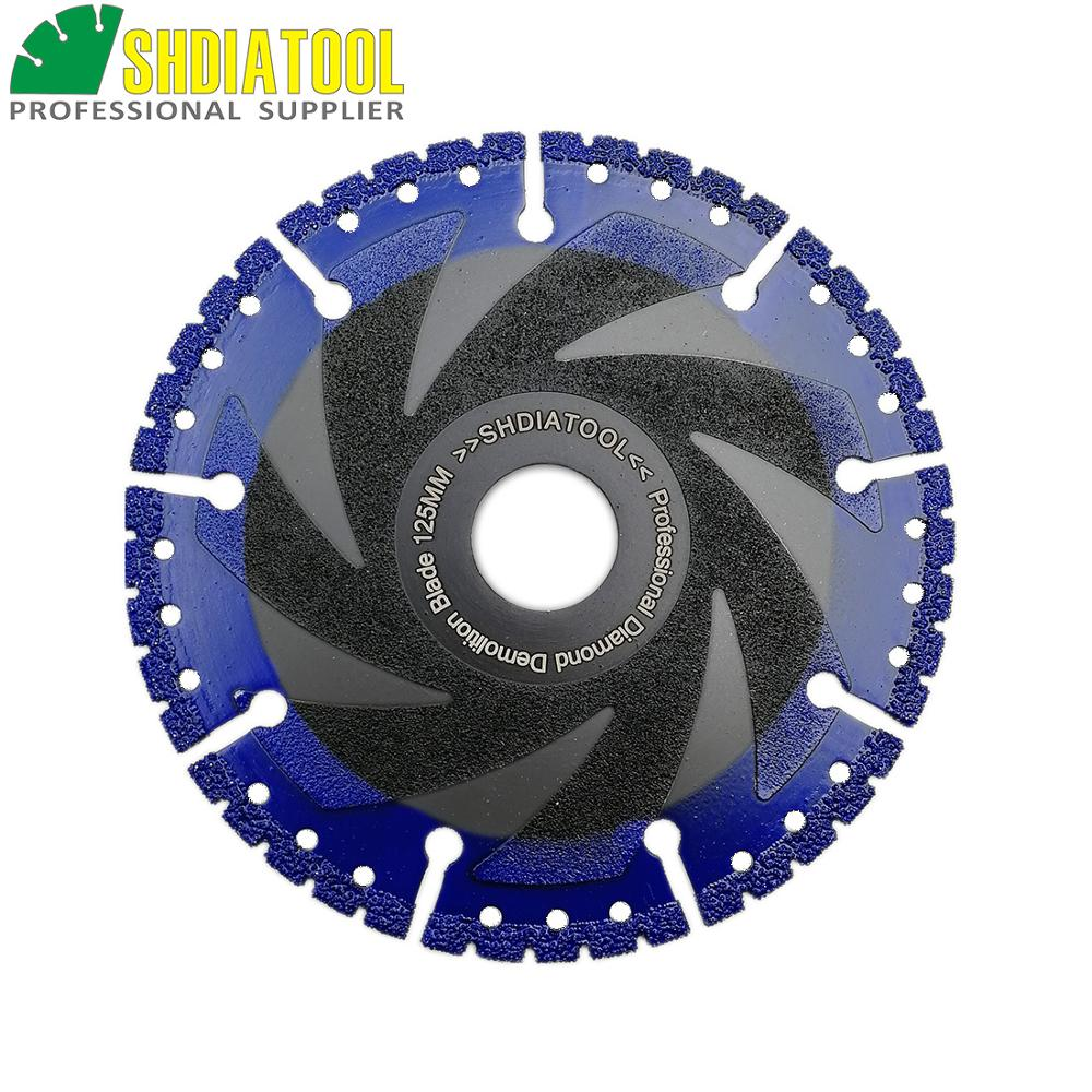 Image 4 - SHDIATOOL 1 pc Vacuum Brazed Diamond blade multi Purpose cutting disc Cast Iron Rebar Aluminum Steel Plastic PVC Stone saw blade-in Saw Blades from Tools