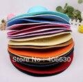 Verano Gran sombrero de Ala Playa Sombreros de Paja Para Las Mujeres Sunbonnet Floppy Caps Envío Libre WHDS-008