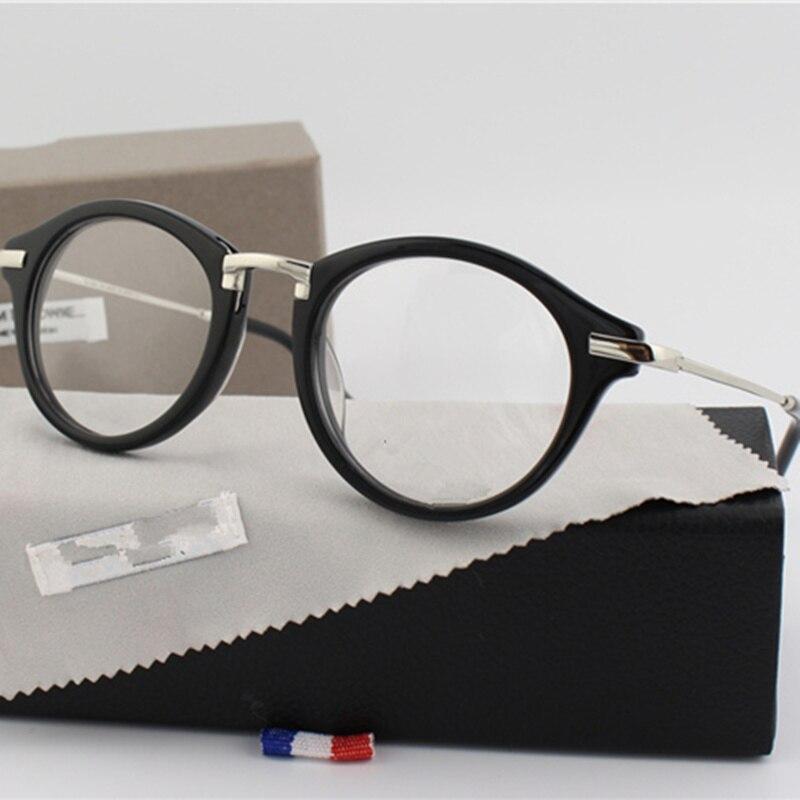 New York montures de lunettes hommes Thom TB703 lunettes rondes montures hommes et femmes Vintage mode lunettes optique cadre hommes