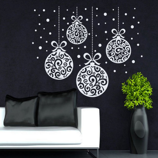 new arrived christmas home window art decorative wall sticker merry christmas decoration vinyl removable wall mural