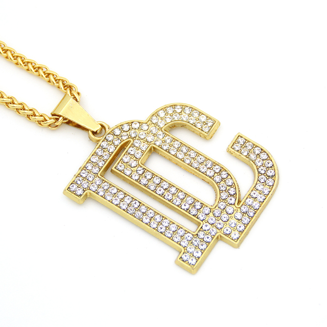 Fashion bling bling jewelry letter necklaces pendants hip hop fashion bling bling jewelry letter necklaces pendants hip hop necklace for men and women n817 aloadofball Images