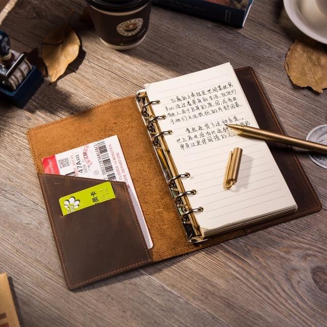 Lederen Travel Notebook Journal Dagboek Handgemaakte 100% Vintage Klassieke Hardcover Kantoor School Briefpapier Schetsboek A6 A7 A5