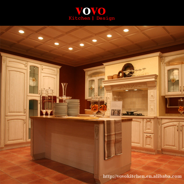 American Style Solid Wood Kitchen Cabinet Design-in