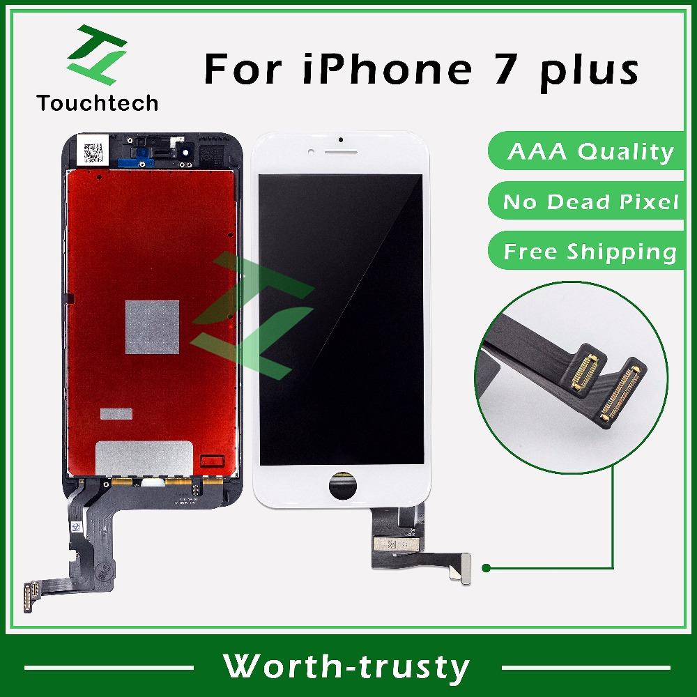 Prix pour 2 PCS/LOT AAA + + + + 5.5 pouce pour iPhone 7 Plus LCD Affichage Assemblée Verre avec Écran Tactile Digitizer B/W Remplacement livraison DHL