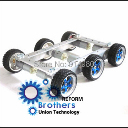 6 small bearing displacement turn 6 v150 deceleration dc motor car chassis wheel 65 mm anti-skid toy robots Car chassis Toy car