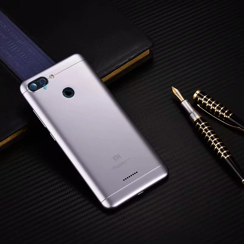 Original Housing For Xiaomi Redmi 6 Redmi6 Plastic Battery Back Cover Replacement Parts Case With Lens
