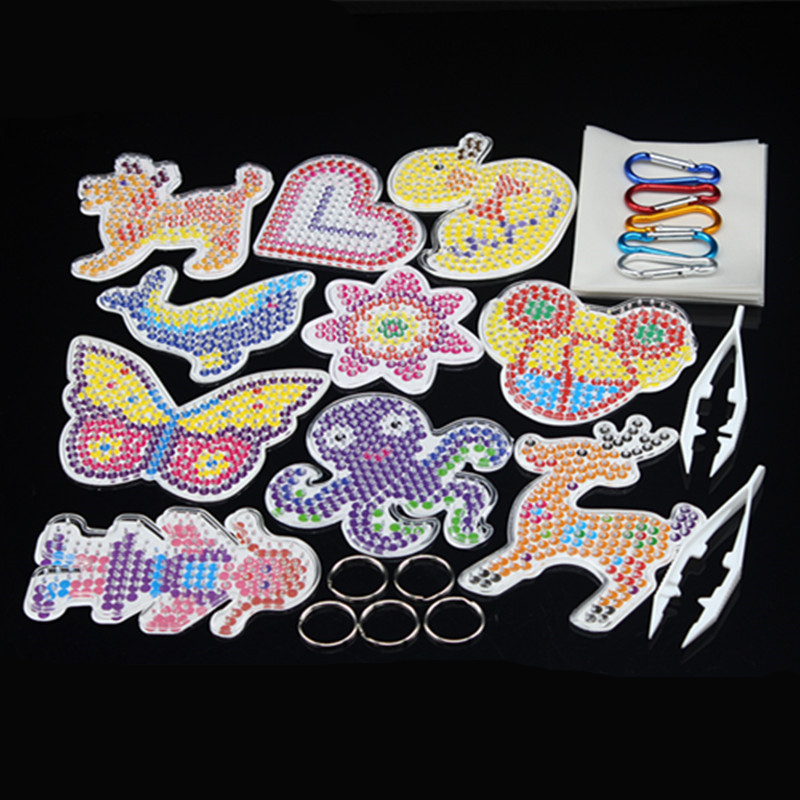 Puzzle Pegboards Patterns Templates &  Ironing Paper & White Plastic Tweezers For 5mm Hama Beads 3D Puzzle Toys For Children
