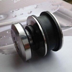 Image 3 - 高品質 1 セットステンレス鋼フレームレス浴室のシャワードアハードウェアスライディングセットキャビンハードウェアバーなしやガラスドア