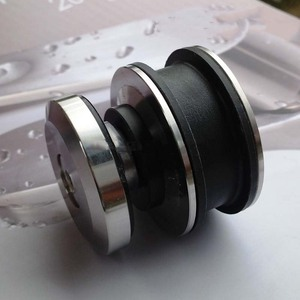 Image 3 - Wysokiej jakości 1 zestaw ze stali nierdzewnej bezramowe łazienka prysznic okucia do drzwi przesuwnych zestaw sprzętu kabiny bez Bar lub szklane drzwi