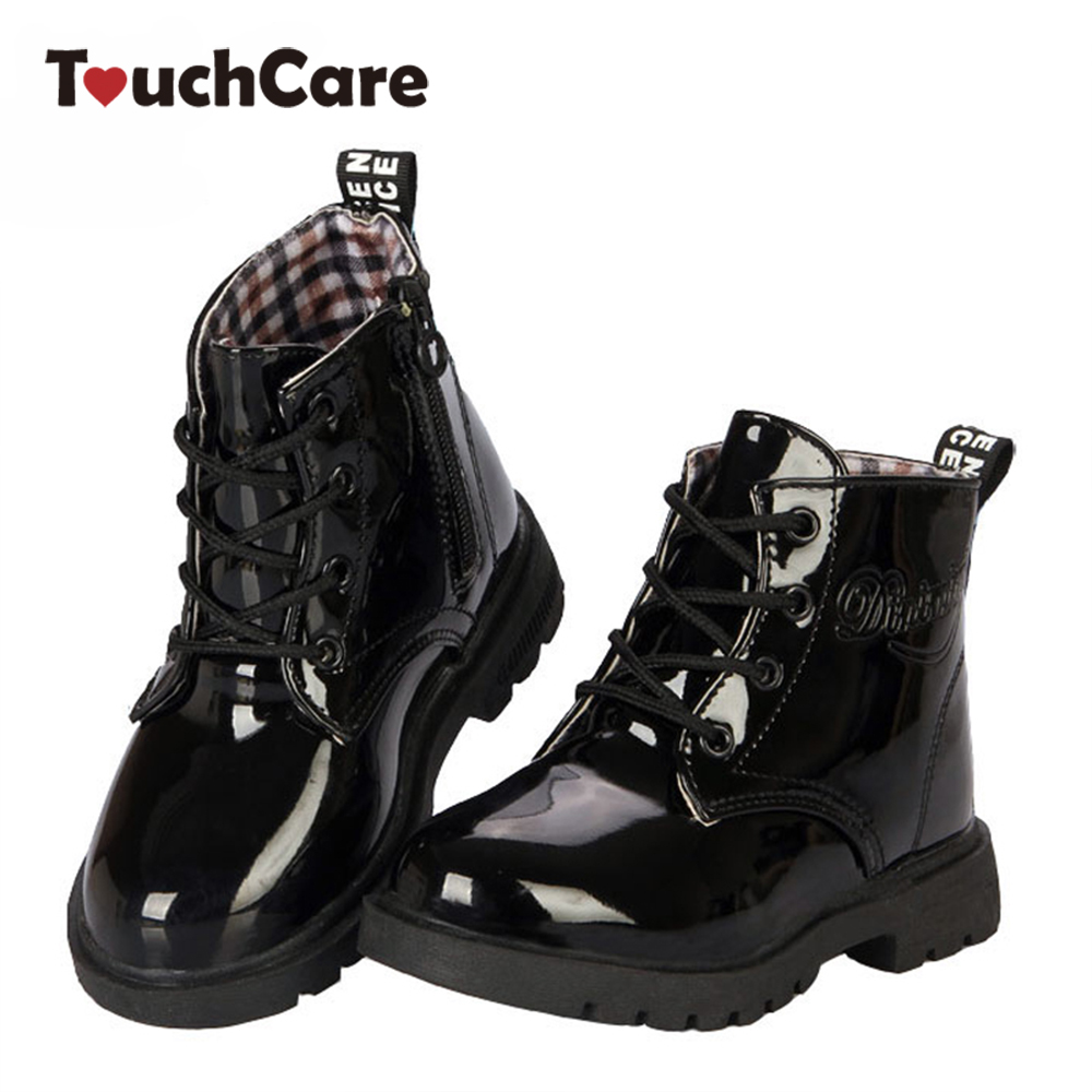New Fashion Chaussure Enfant Children Martin Boots Girls Boys Winter Shoes Kids Rain Boots PU ...
