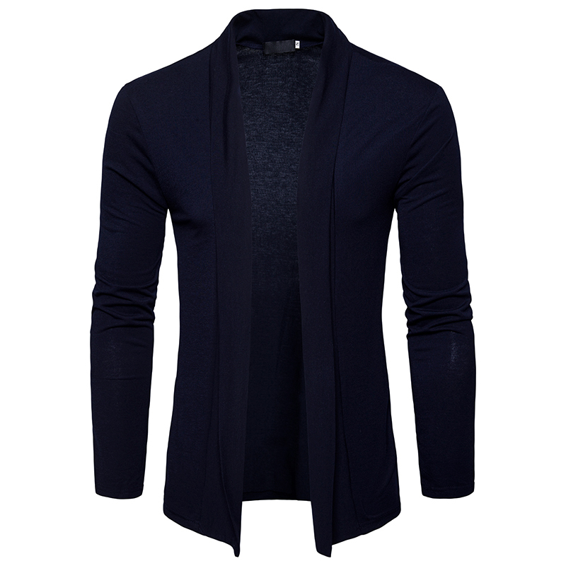 Cardigan men's new 2018 clothing solid color men's self-cultivation #004