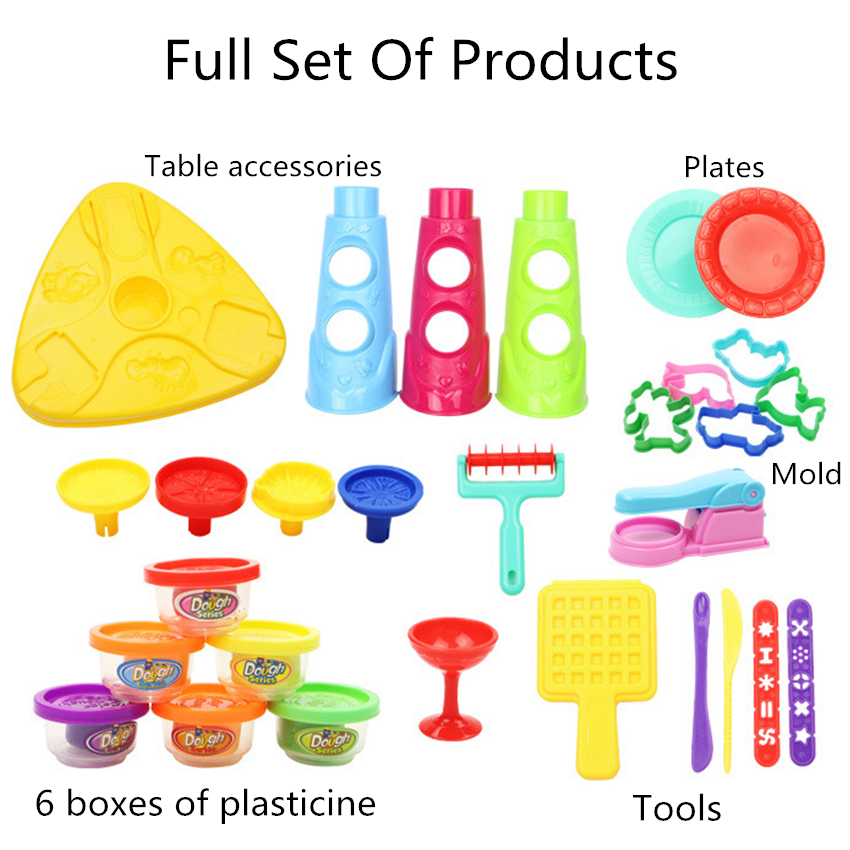 DIY Plasticine Table Animals Playdough Mud Foam Gadget Charm Play Clay Model Maker Putty Kit Polymer Fimo Tool Toys For Children in Modeling Clay from Toys Hobbies