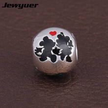 925 Sterling Silver jewelry Enamel Charms Fine jewelry charm 2015 Enamel Charms Fit brand beads Bracelets DIY assessories DSN037(China)