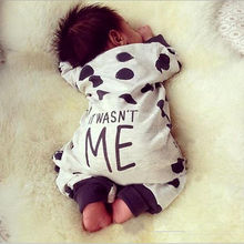 Newborn Baby Girl Rompers Jumpsuit Long Sleeve Polka Dot Lovely Cute Fashion