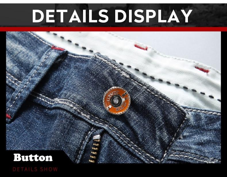 KSTUN 2020 New Arrivals Jeans Shorts for Men Regular Fit Stretch Blue Casual Pants Famous Brand Men's Clothes Male Cowboys Shorts 13