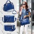 1Set Women Handbag Shoulder Bag Lady Tote Messenger Leather Crossbody Purse Set