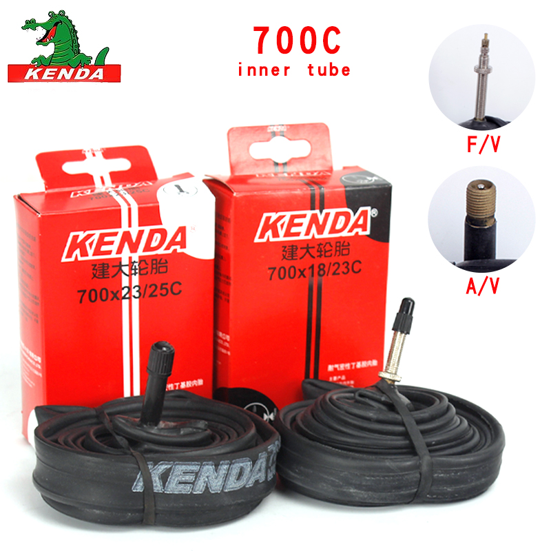 Kenda mountain Bike Road bicycle tire 700 *18 23 25 <font><b>28</b></font> 32 35 43 45C bicycle parts AV FV Cycling butyl rubber Bicycle Inner <font><b>Tube</b></font> image