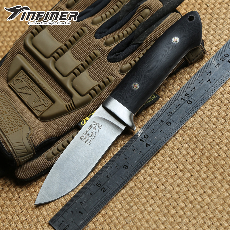 INFINER Loveless A2 blade G10 handle fixed blade large straight knife Sheath camping hunting tactical outdoors EDC knives tools hx outdoors high hardness straight knife aus 8 blade g10 handle outdoor survival knife multi tactical hunting knives edc tools