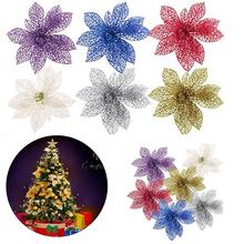 artificial hollow flowers wedding party christmas xmas tree ornament decoration home valentine day christmas tree flower kit - Christmas Tree Decoration Kits