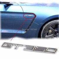 L חדש באיכות גבוהה 3d השחור/כרום F * rd מוסטנג GT 350 רכב מדבקת סמל בצד אחורי אתחול Trunk תג אוטומטי Shelby GT350 מדבקות