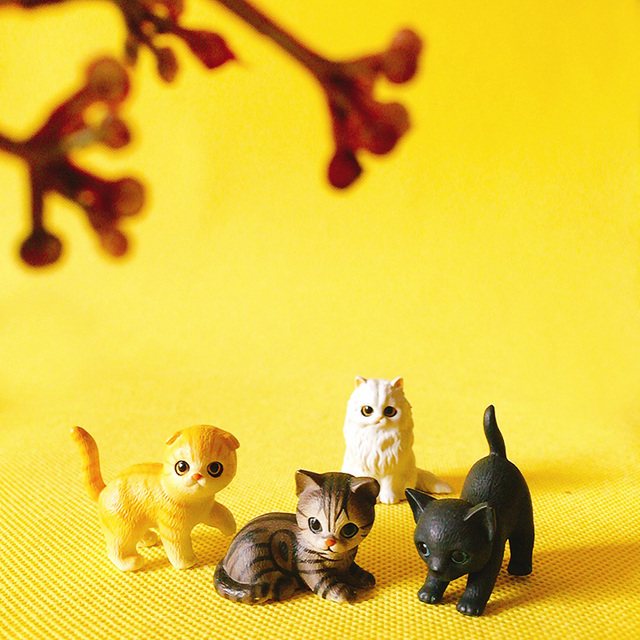 Cute Mini Cat Figurine