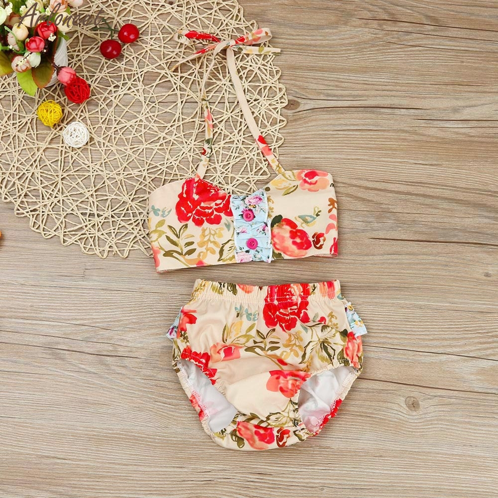 2018 ARLONEET 2PCS Kids Baby Girls Tankini swimming Set Bathing Suit Beachwear Infant Floats Jan11 fashion Cute