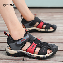 New Sandalia Male Casual Flip Flops Sandals Shoes Hiking PU Leather Men Professional Summer Bicycle Shoes Slippers Outdoor 38-44