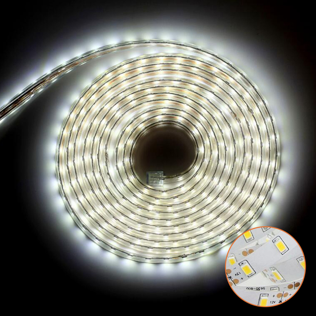 Met EU Stekker led strip flexibele licht SMD 5730 RGB Waterdichte ...