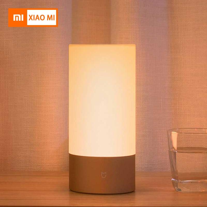 Lampes intelligentes d'origine Xiao mi mi jia lampe de chevet d'intérieur 16 mi llion RGB lumière contrôle tactile Bluetooth pour mi jia mi APP maison
