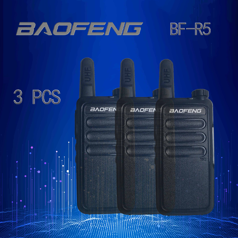 2pcs/wholesale BAOFENG R5 Walkie Talkie UHF Two Way Radio Baofeng 5R UHF 400-470MHz 16CH Portable Transceiver With Earpiece