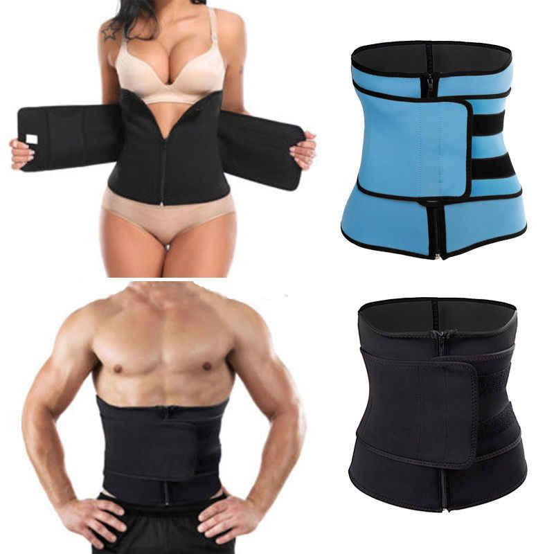 Mężczyźni kobiety brzuch gorset waist Trainer Cincher pas odchudzający trener gorące urządzenie do modelowania sylwetki Slim Shapewear pas odchudzający pas wyszczuplający w talii trener