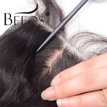 Шелковая основа, волнистые волосы Remy, перуанские человеческие волосы 4x4, шелковая застежка, средняя часть, свободная часть, Отбеленный узел, бесплатная доставка, Beeos