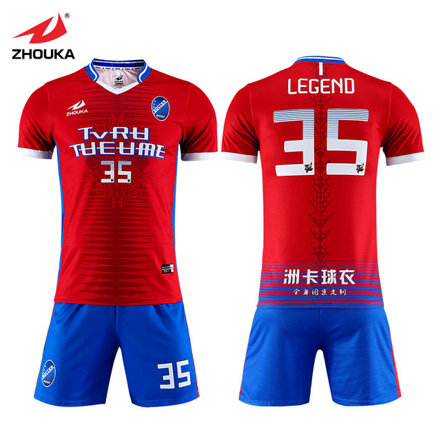66557e9fc19 Sublimated high school custom kids generic football jersey sports design  soccer kit maker football player uniform