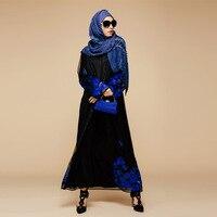 2016 Appliques Dentelle Nouveau Islamique Outwear Vêtement Arabe Cardigan Turquie Moyen-Orient Musulman Femmes Robe De Mode Grande Taille