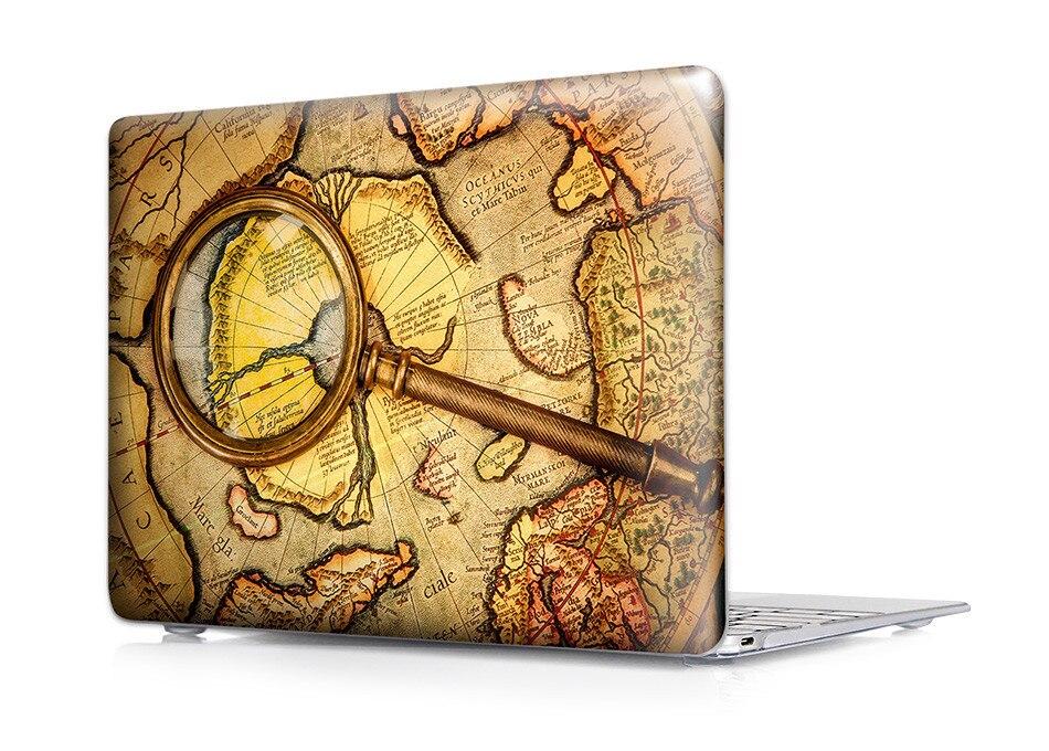 1778 מפת העולם משטח מט כיסוי מקרה עבור Apple Macbook Air 11 13 13 פרו 15 Pro Retina 13 15 תיק מחשב נייד עבור Mac Air 13 התיק