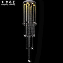 crystal chandelier LED light hanging lamp luxury House-Deco crystal lustres staircase lighting