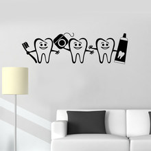 Hot Sale Dental Care Mural Wall Sticker Vinyl Dentist Sign Home Bathroom Decor Wallpaper Decal Modern Decorative Art PosterLC295(China)