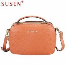 SUSEN 4199  High Quality Women Messenger Bags Crossbody Bags for Women Luxury Leather Shoulder Bag