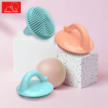 Baby Soft Silicone Bath Brush Toddler Shower Scalp Body Massage Scrubber Bristle Shampoo with Elephant Handle