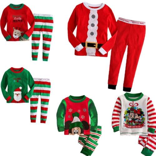 pijamas kids Christmas Pajamas Baby Kids Toddler Boy Girl Xmas Santa Claus  Suit Nightwear kids pajamas Outfit 1 8Y pyjamas kids-in Pajama Sets from  Mother ... - Pijamas Kids Christmas Pajamas Baby Kids Toddler Boy Girl Xmas Santa