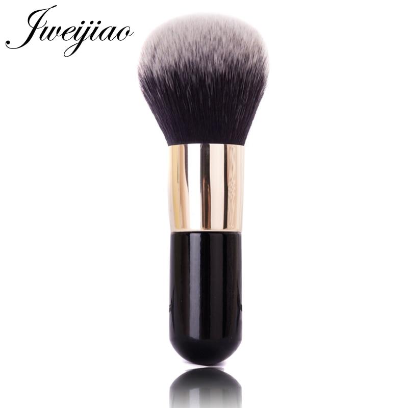 JWEIJIAO Arc Cream Single Big Powder Brush With Golden Handle Professional Cosmetic Make-up Foundation Blush