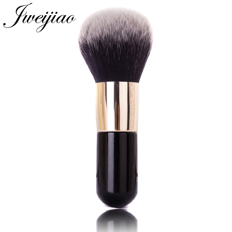 JWEIJIAO Arc Cream Single Big Powder Brush with Golden Handle Professional Cosmetic Make-up Foundation Blush